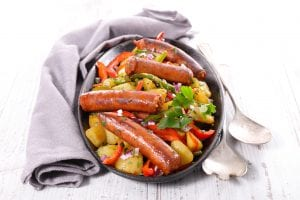 Italian sausage dish with vegetables