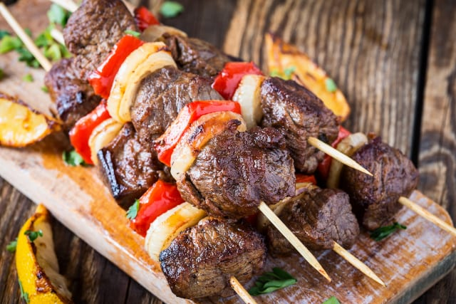 Griddle Recipes: Steak and Pineapple Kebabs